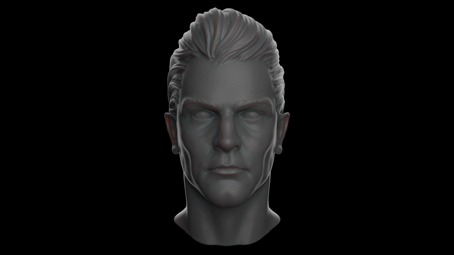Realistic Human Male Head - Basic Human