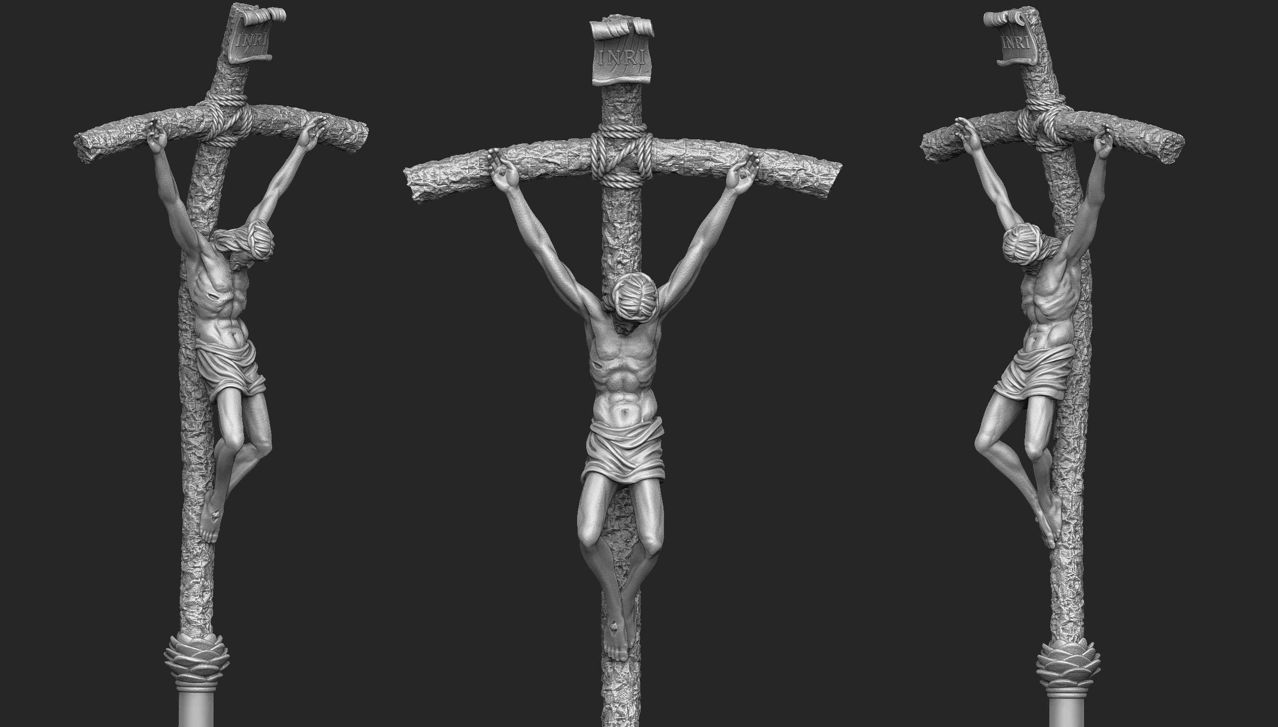 Papal Ferula Crucifix