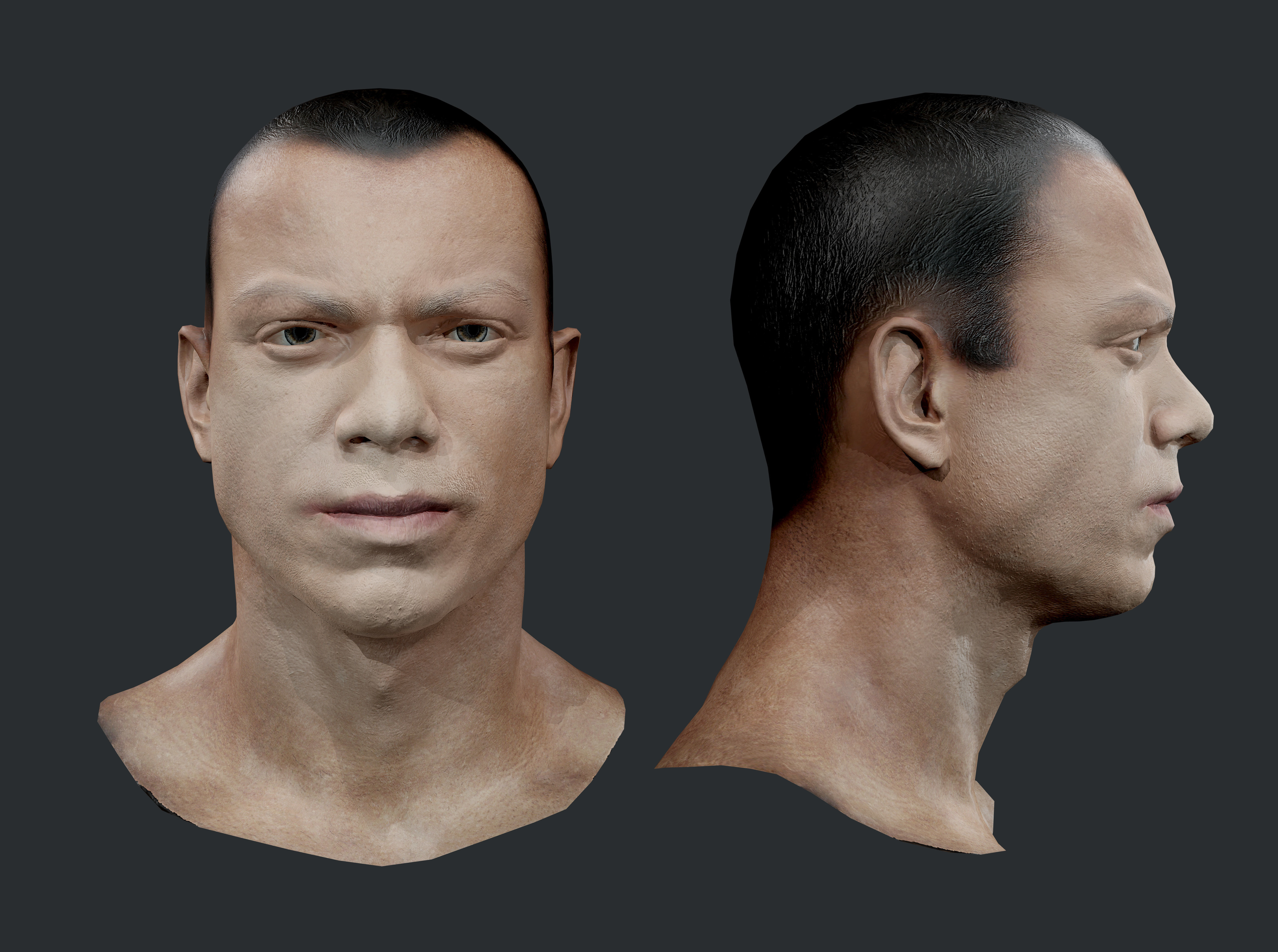 Male Human Character Head Game Ready 08