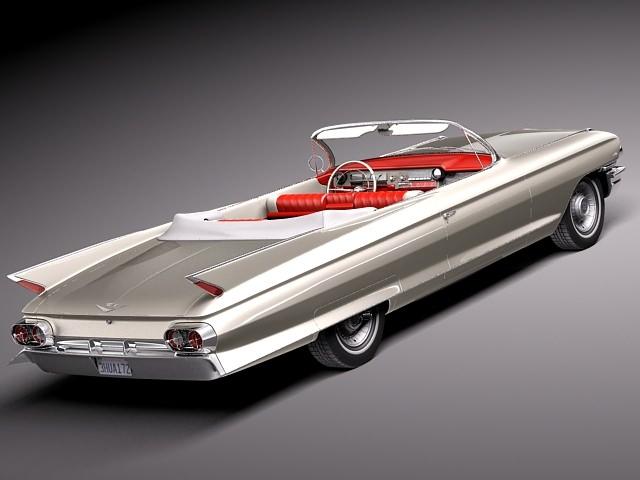 Cadillac 1961 Eldorado Convertible 3D Model MAX OBJ 3DS FBX C4D LWO LW LWS - CGTrader.com