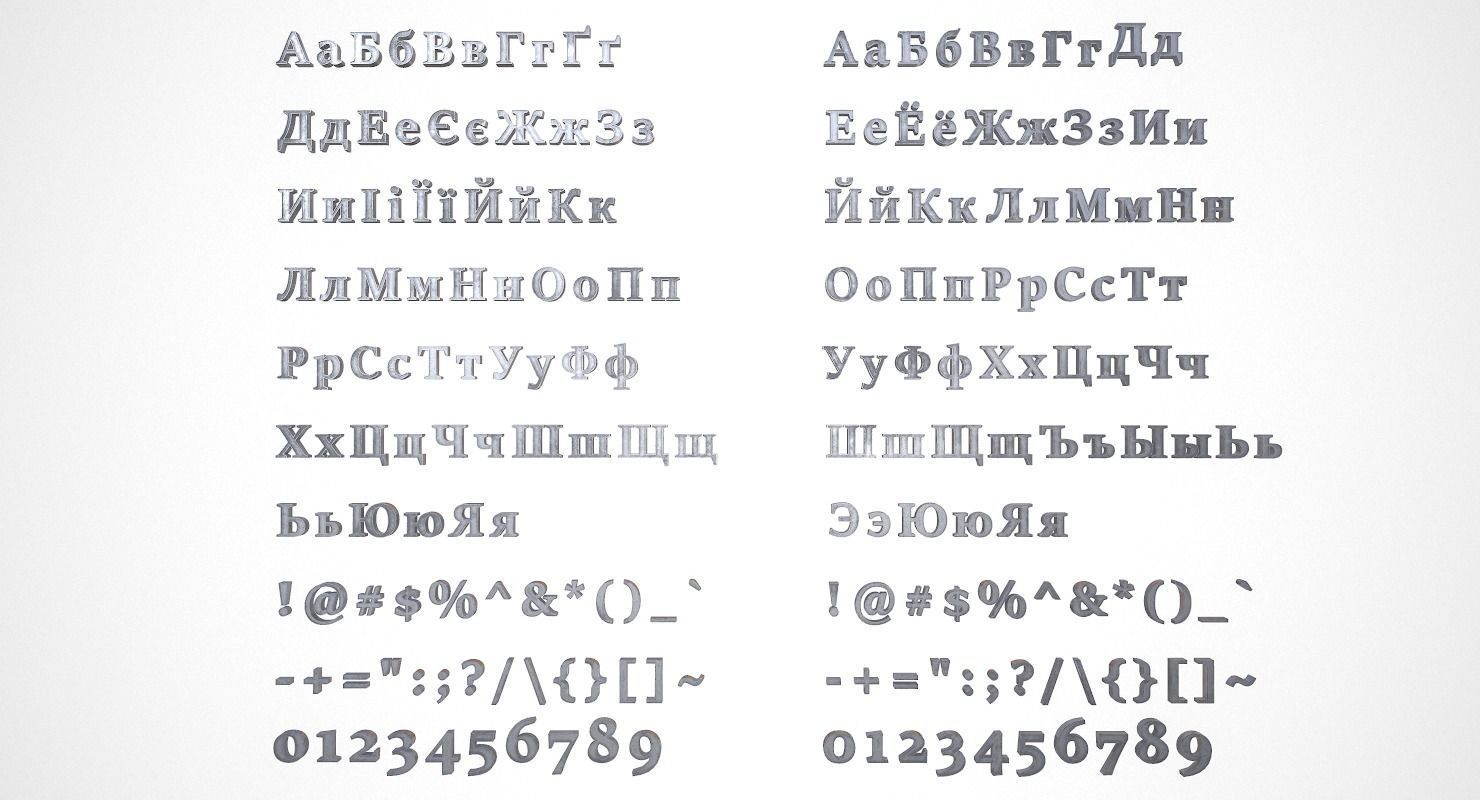 Russian and Ukrainian Letters - Iron