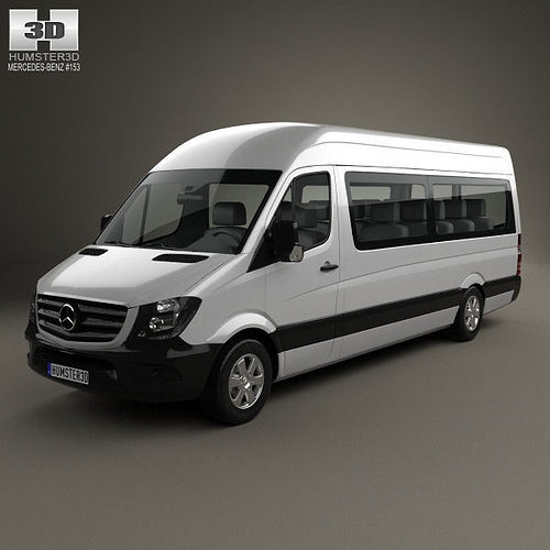 mercedes benz sprinter passenger van lwb hr 2013 3d model. Black Bedroom Furniture Sets. Home Design Ideas