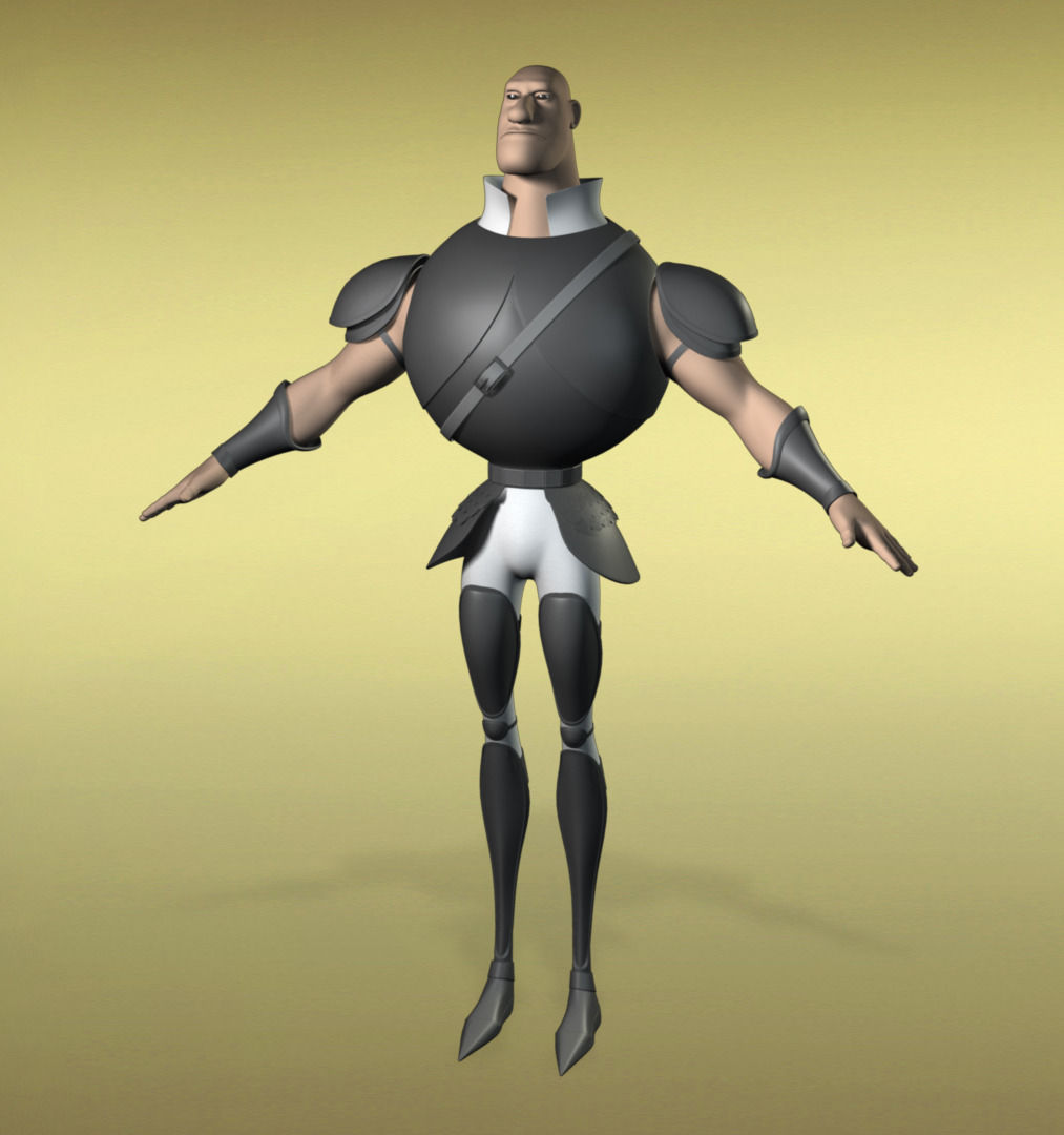 Base Mesh Warrior 3D