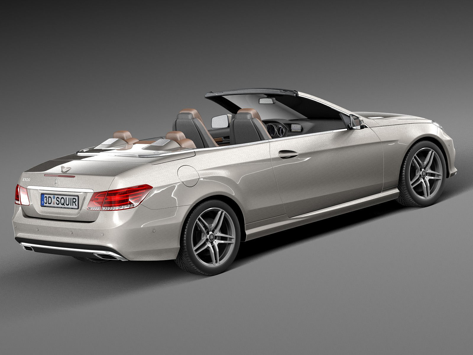mercedes benz e class amg convertible 2015 3d model max