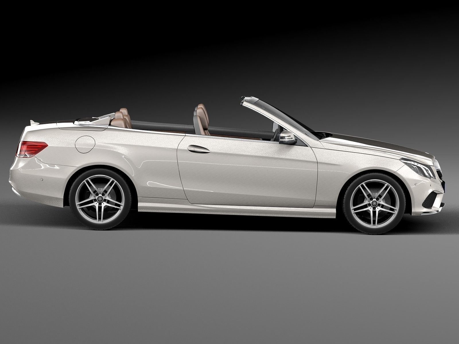 Mercedes benz e class amg convertible 2015 3d model max for Mercedes benz hardtop convertible 2014