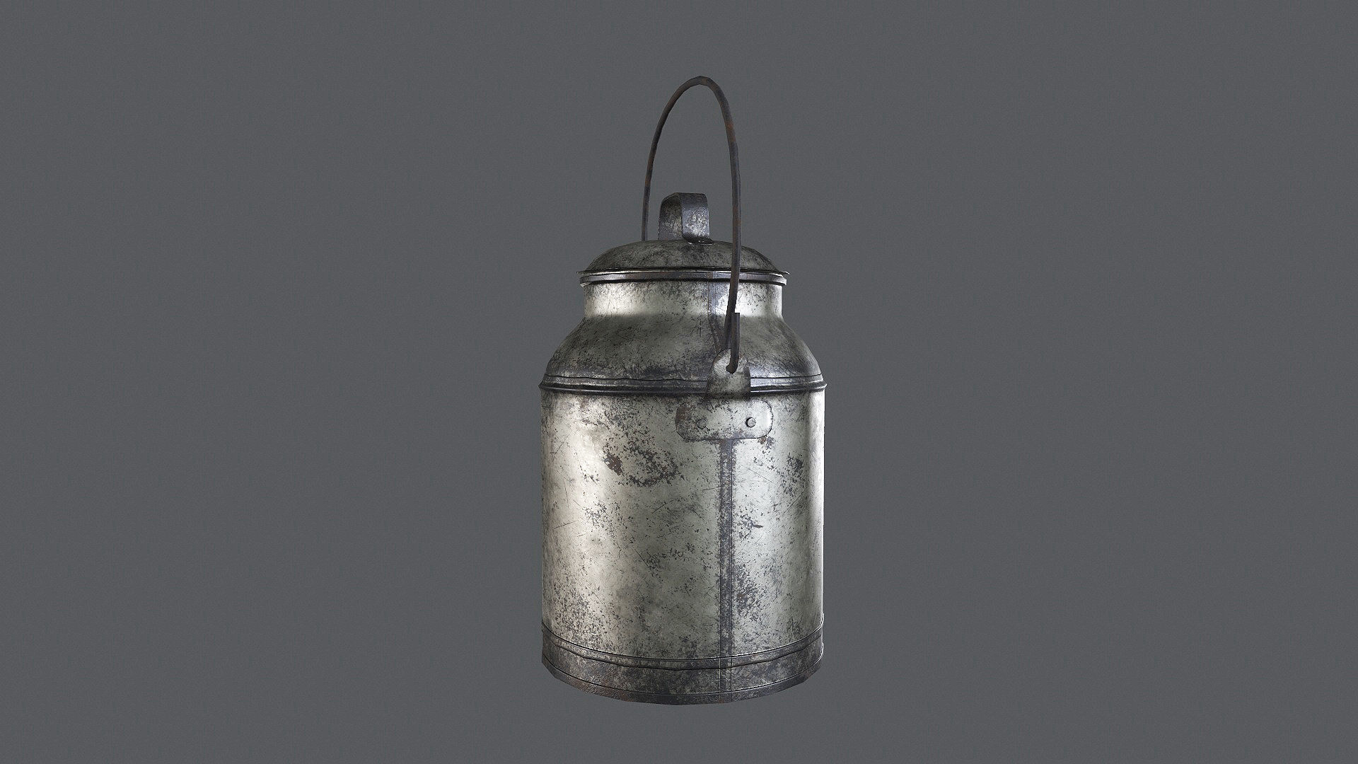 Old Milk Can Game Ready