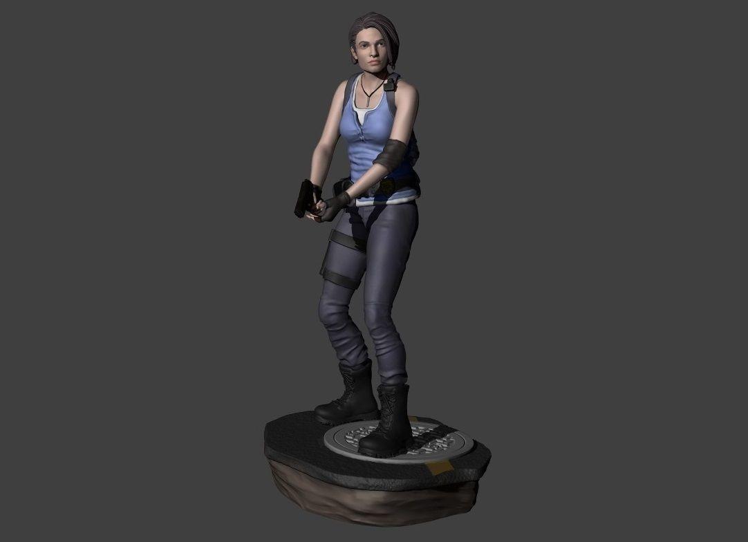 Jill Valentine Resident Evil 3 Remake With 2 Bases For 3d