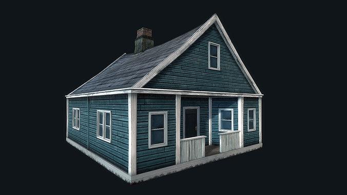 abandoned houses 02 3d model low-poly max obj mtl 3ds fbx dae tga 1