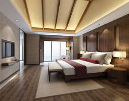 collection gorgeous bedrooms collection 10 3d models