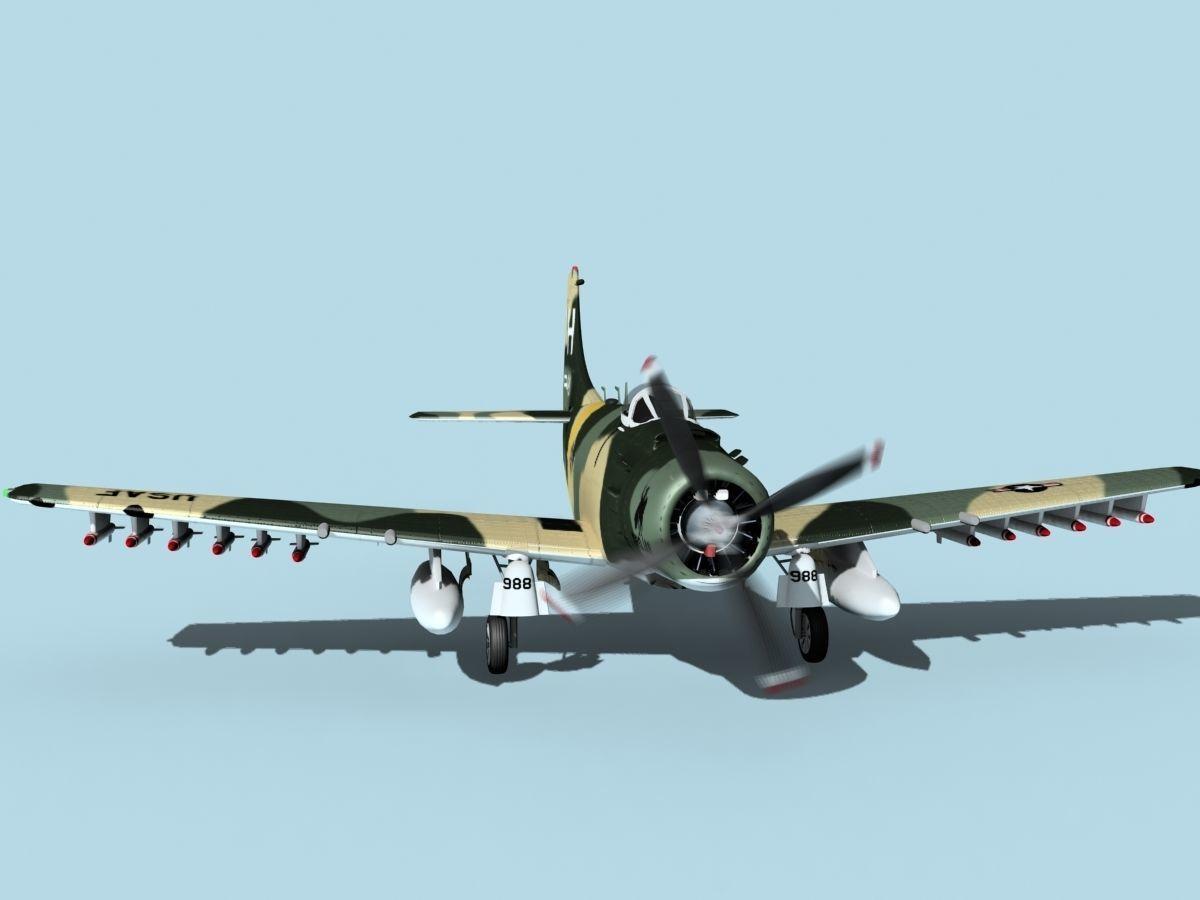 Douglas A-1H Skyraider V12 USAF