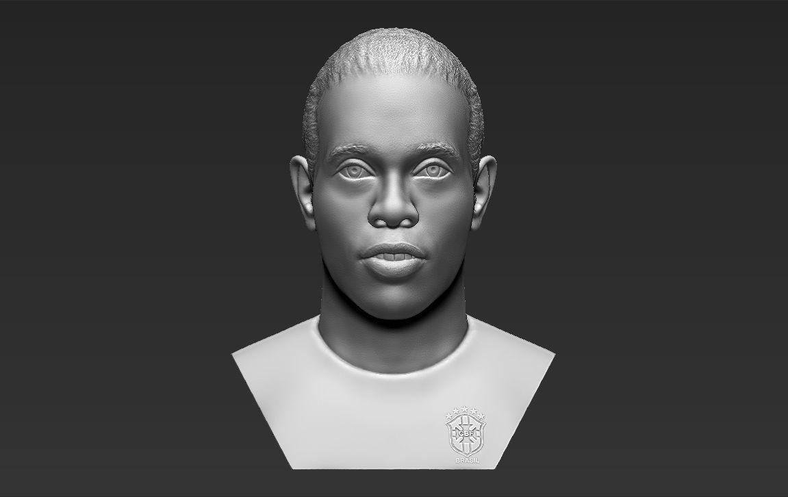 Ronaldinho bust 3D printing ready stl obj formats