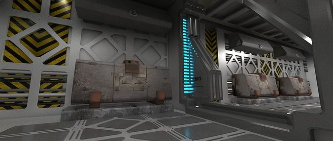 Spaceship indoor 3d model cgtrader for 3d room simulator
