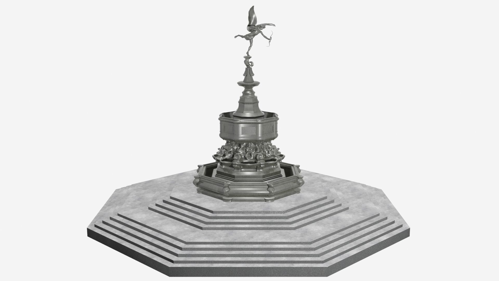 Shaftesbury Memorial Fountain Piccadilly Circus