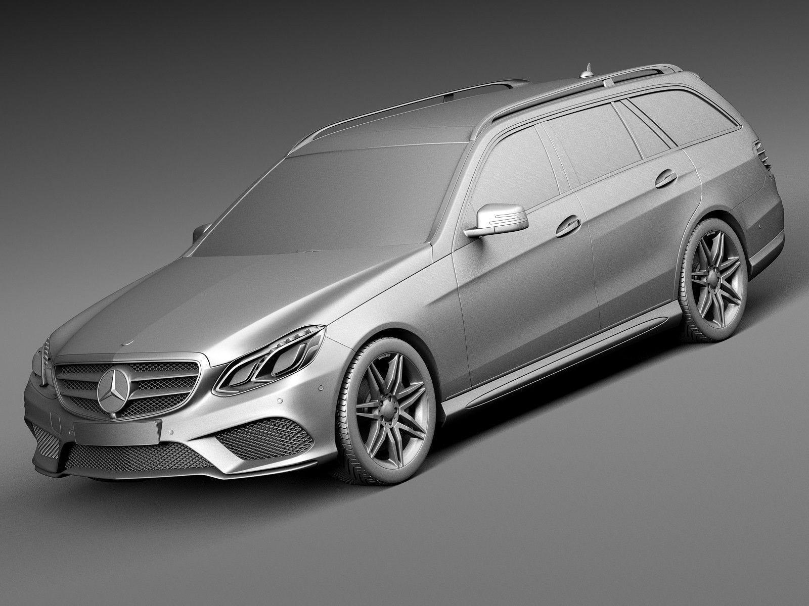 Mercedes benz e class amg estate 2015 3d model max obj 3ds for Mercedes benz 2015 models