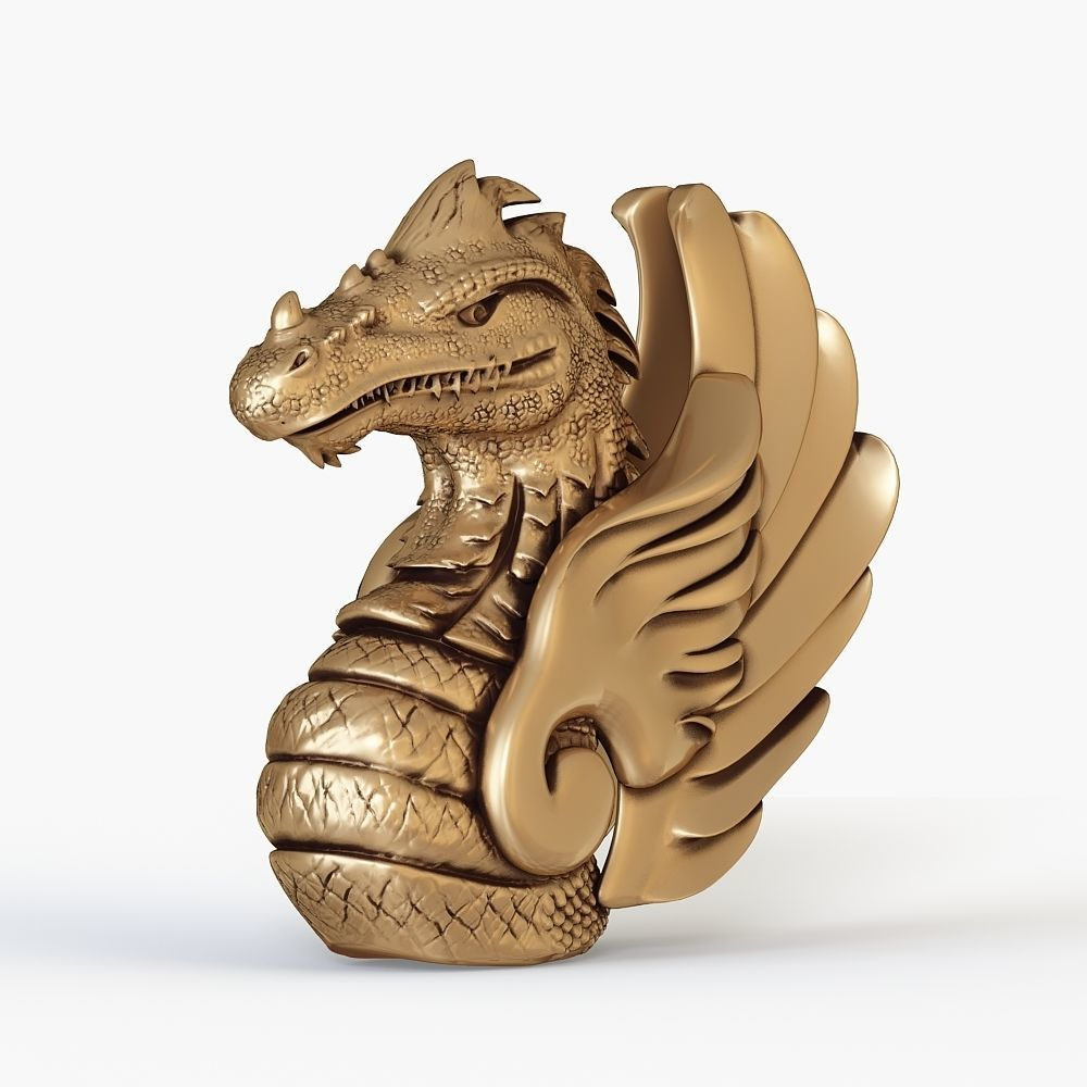 Dragon bust for 3D printing