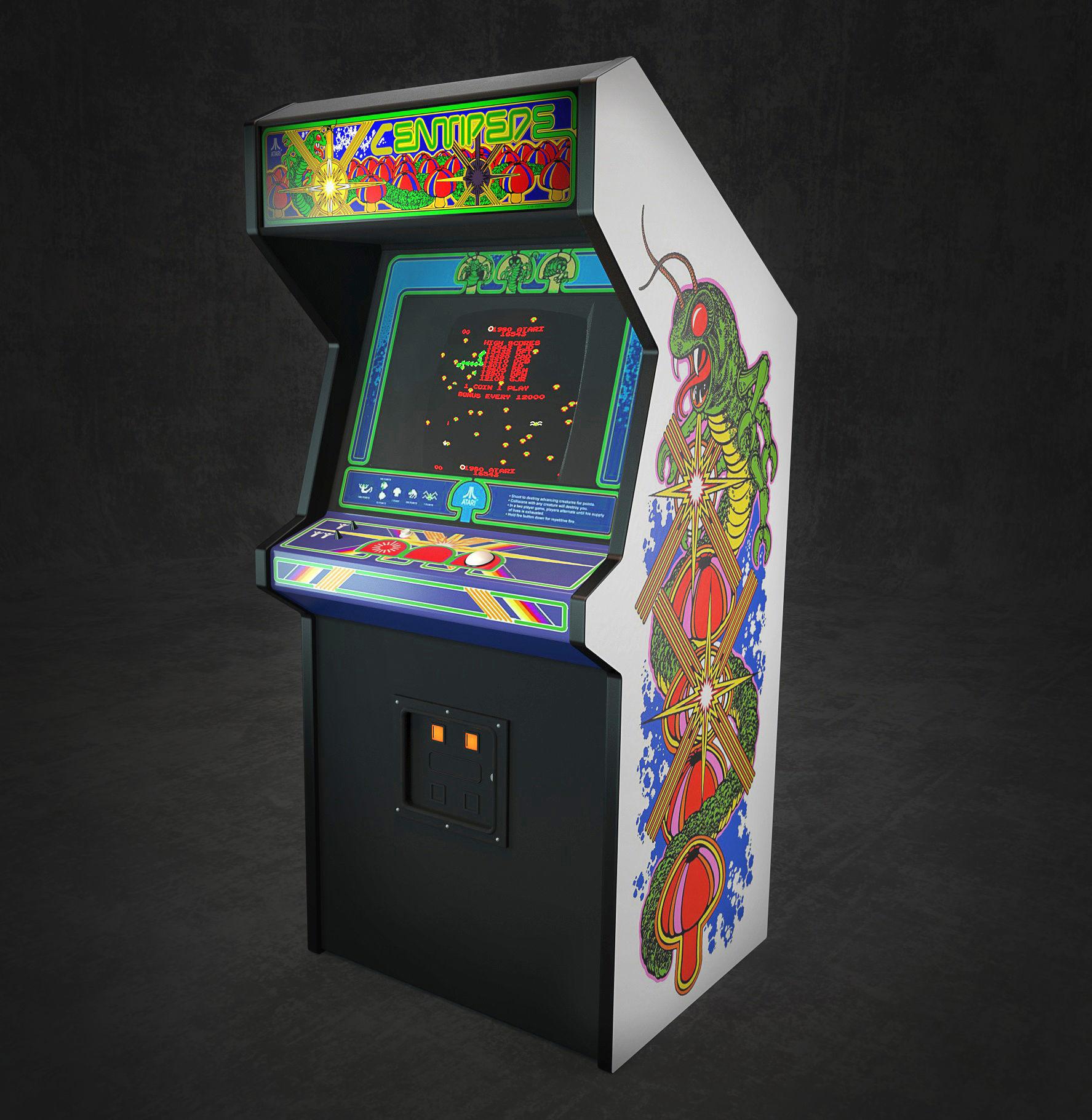 Game Arcade Centipede 3D model | CGTrader