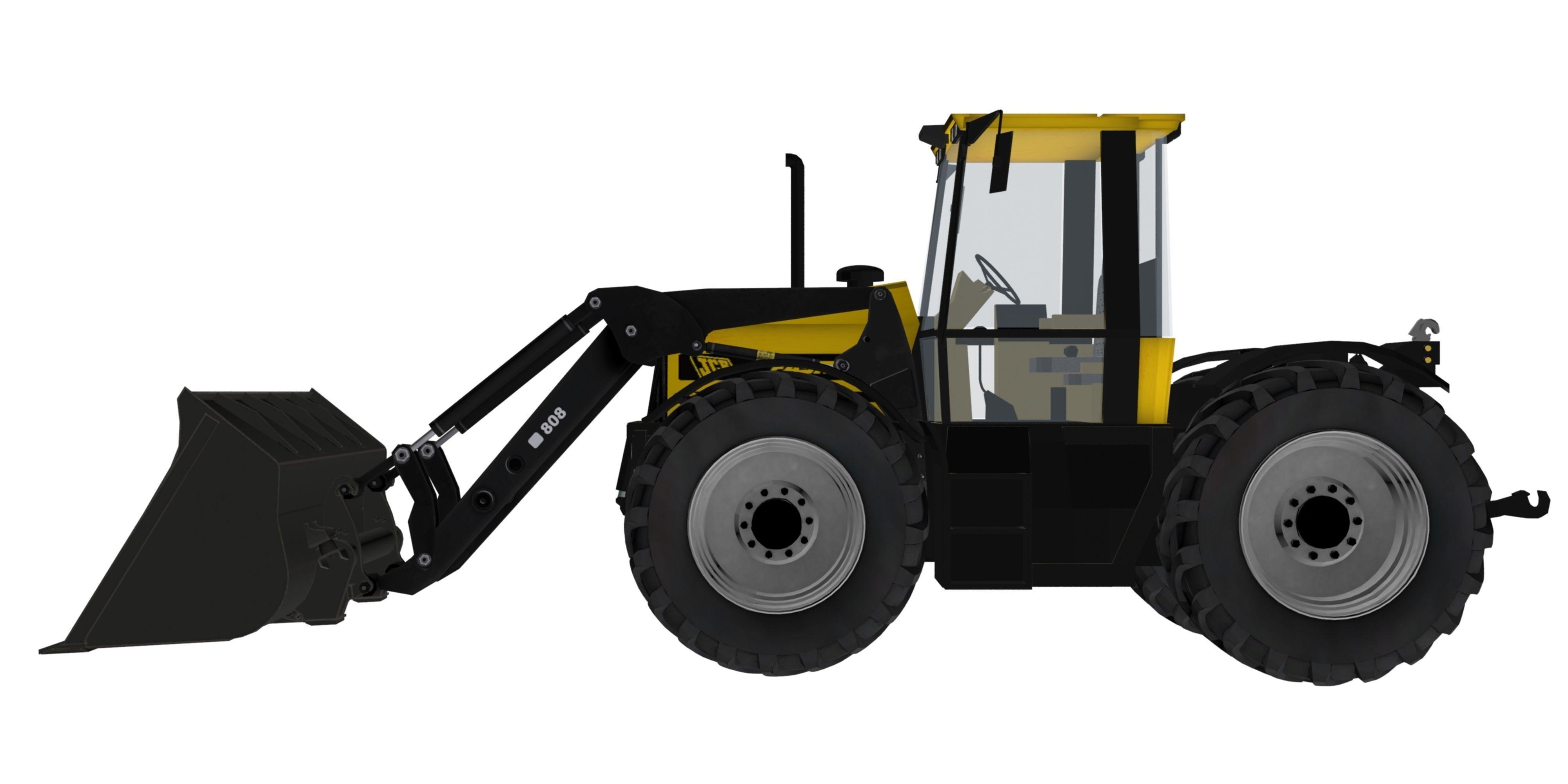 jcb fastrac 2150 fl loader 3d model cgtrader