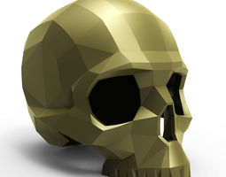 faceted skull 3d print model
