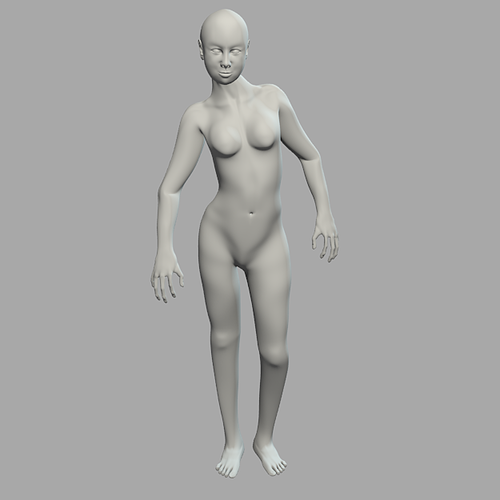 generic woman rigged 3d model rigged blend 1