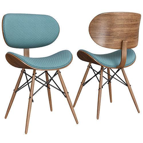 CORVUS MADONNA MID Century Accent Chair 3d model