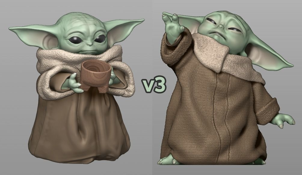 GROGU - Baby Yoda Using The Force - With Cup - PACK