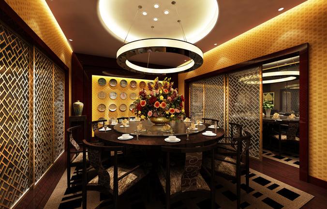 Restaurant dining room 3d model max for Dining room 3d max model