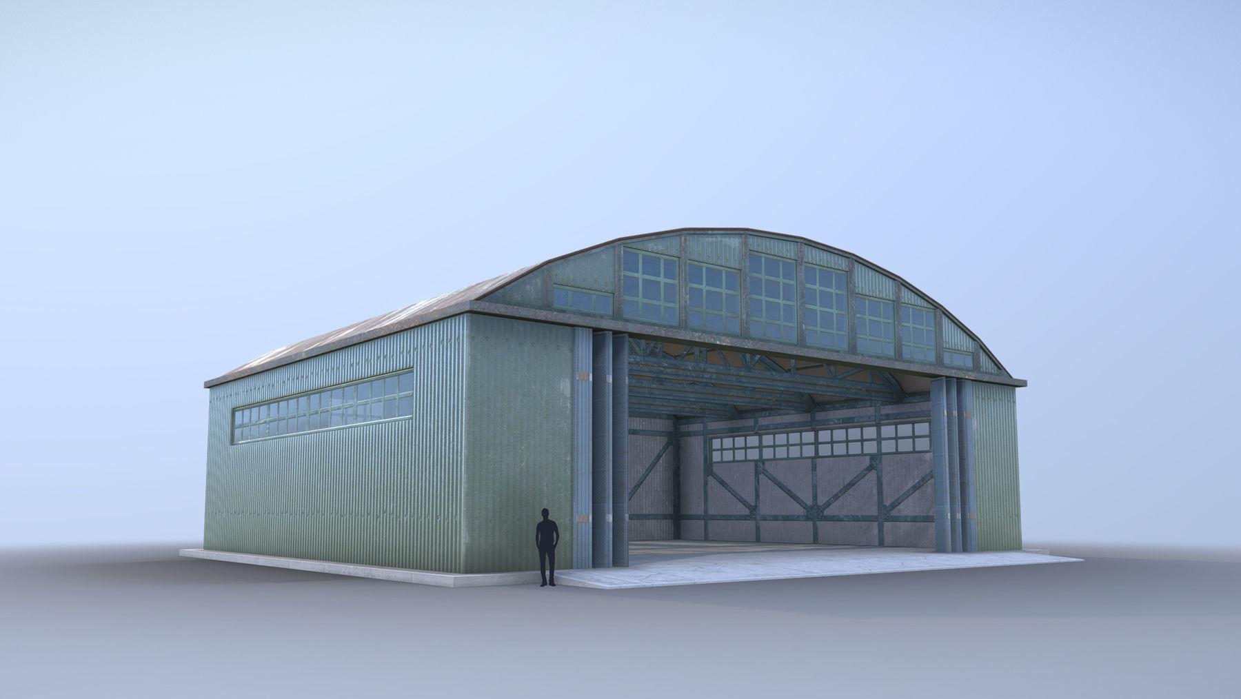 Airport Hangar SmallHangar 01 open