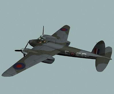 raf wwii mosquito fb-vi  fighter bomber  3d model max obj mtl 3ds fbx hrc xsi dxf 1