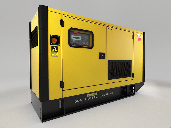power generator 3d model max obj 3ds fbx dxf mtl 1