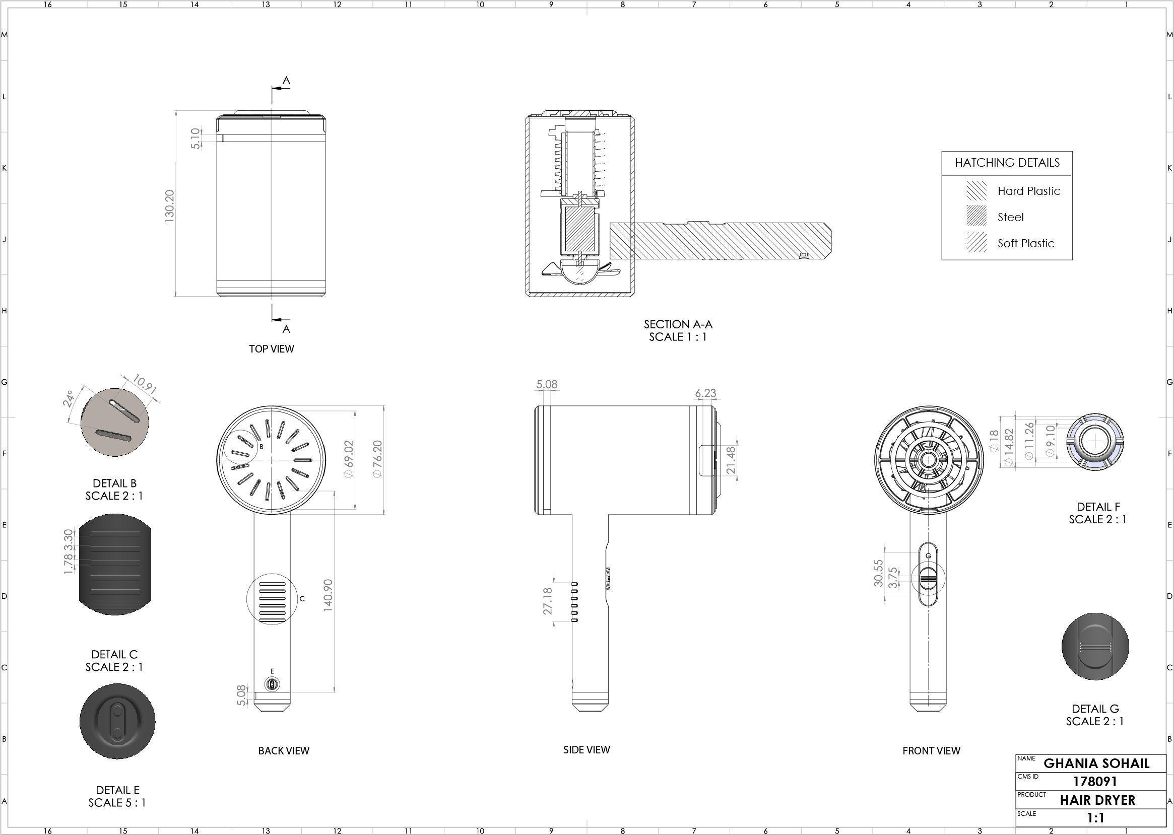 Material Hair Dryer 3d Model Cgtrader