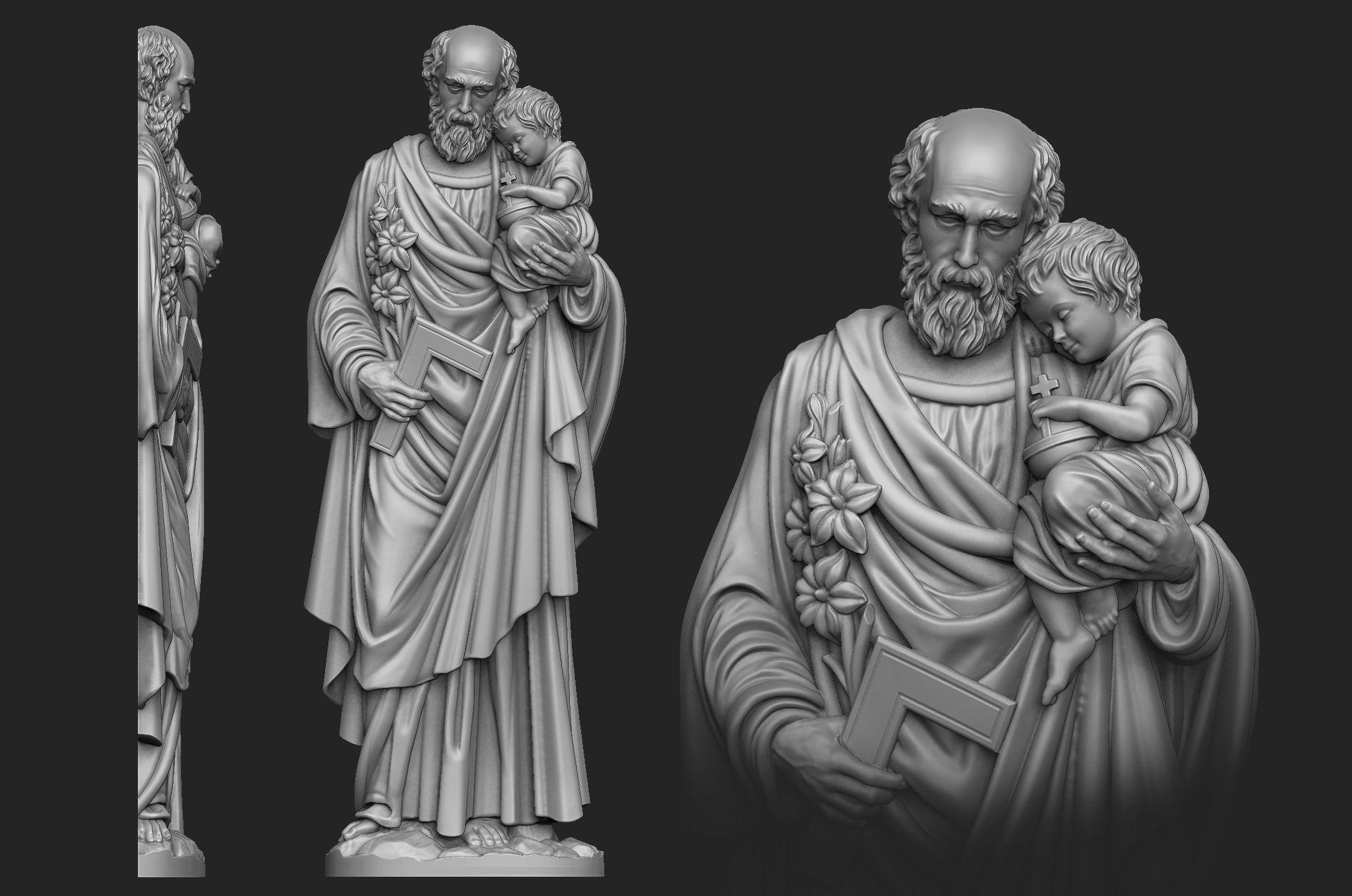 Saint Joseph Bas-Relief