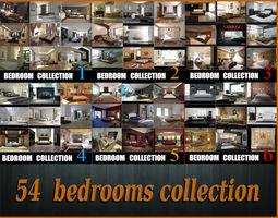 3D model 54 Bedrooms pack