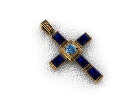3D print model Krest-cross jesus