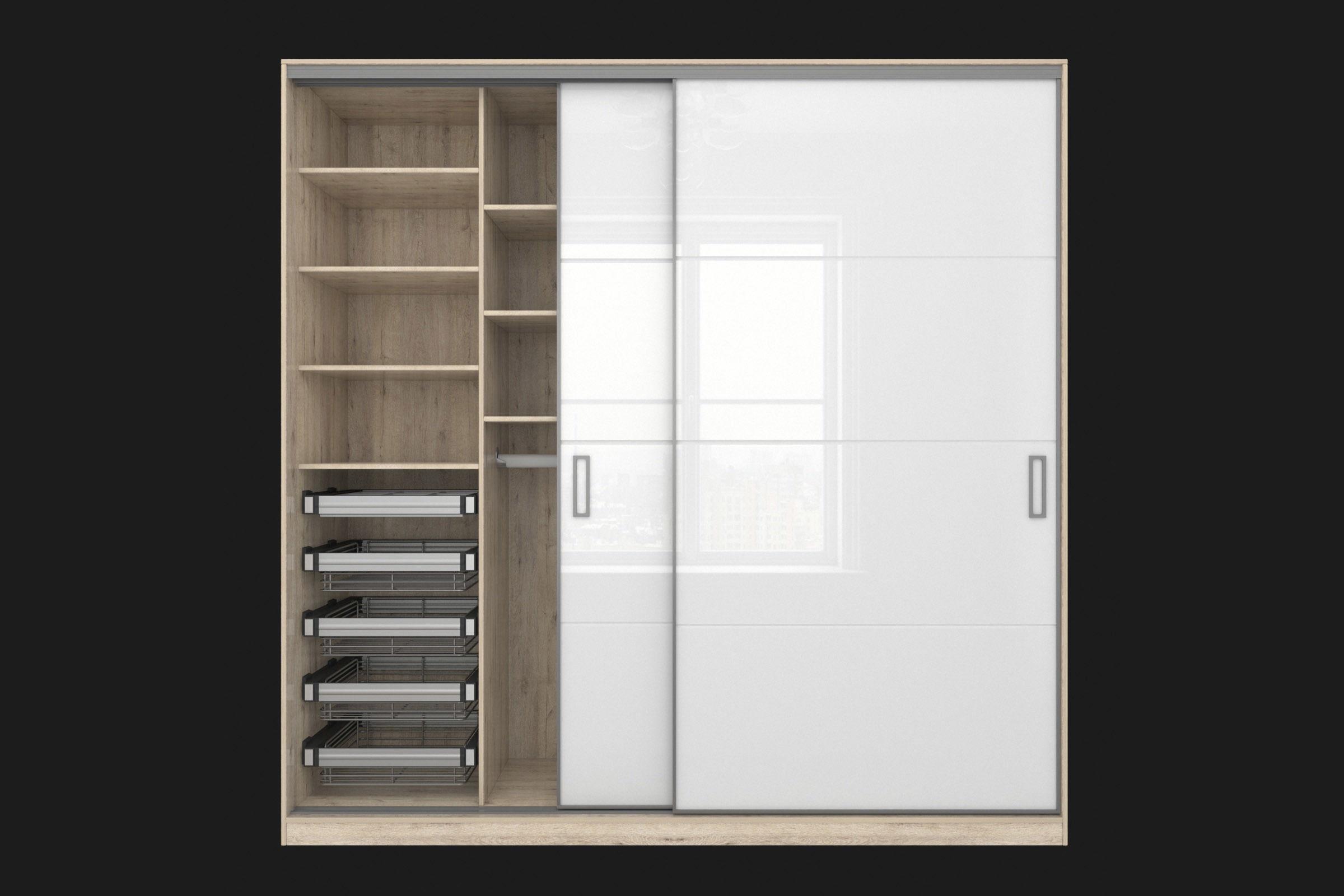 Sliding wardrobe in a narrow Modus MS163 profile