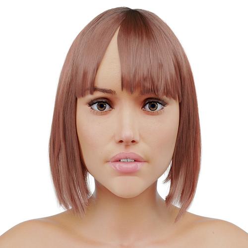 female 3d model low-poly max fbx 1