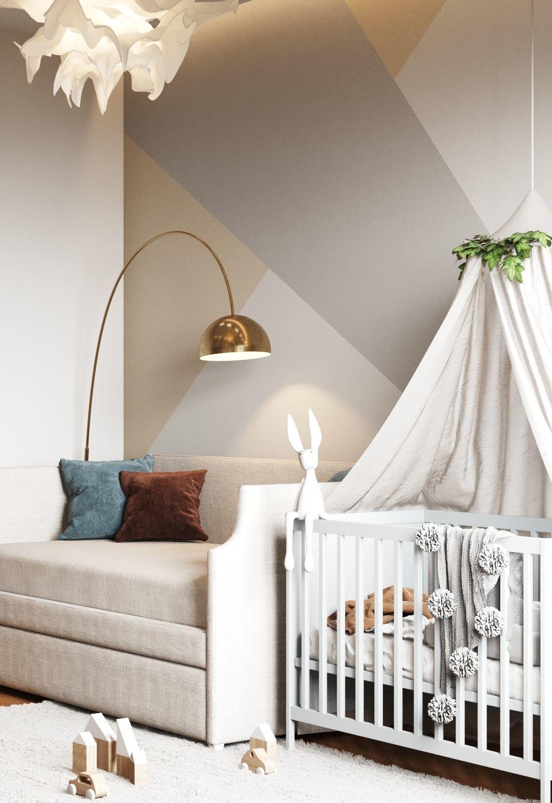3d Room Interior Design: 3D Model Small Baby Room Interior Scene And Corona