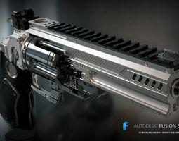 Konstantin heavy revolver 3D print model