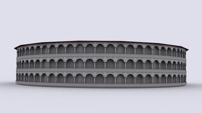 gladiatorial arena 3d model low-poly max obj mtl 3ds fbx stl tga 1