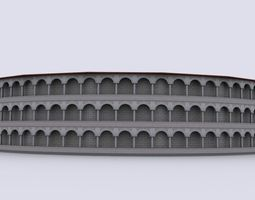 gladiatorial arena 3d model low-poly max