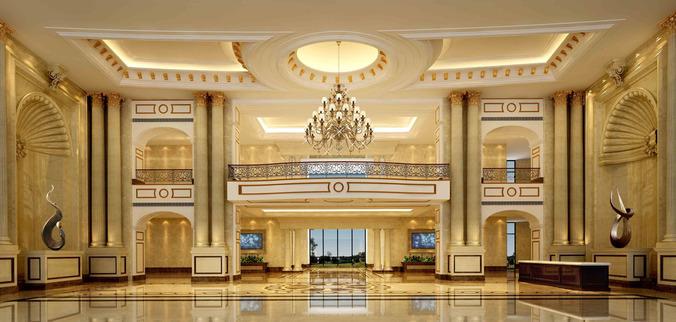 Luxury Lobby 3d Cgtrader