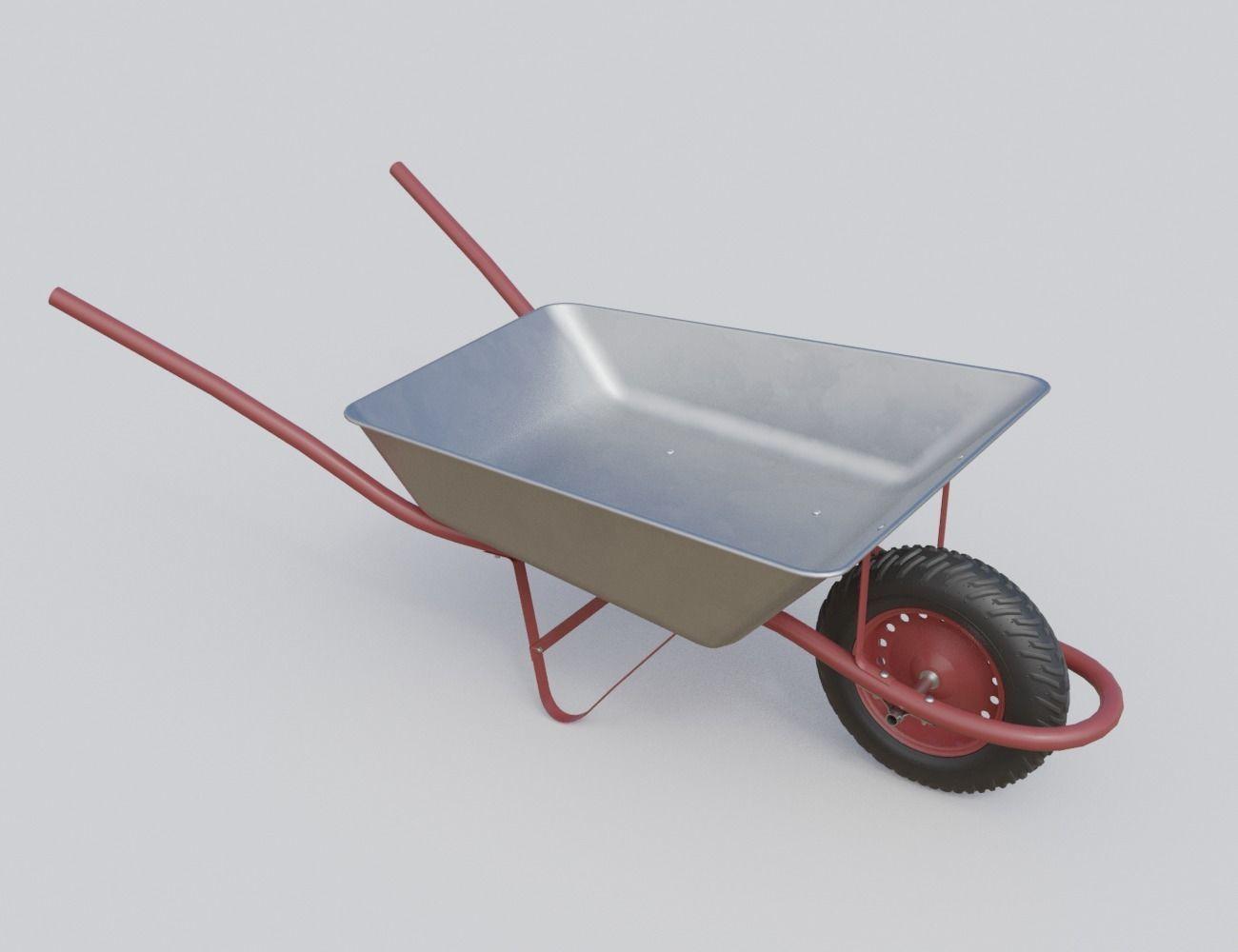 New clean wheelbarrow pushcart