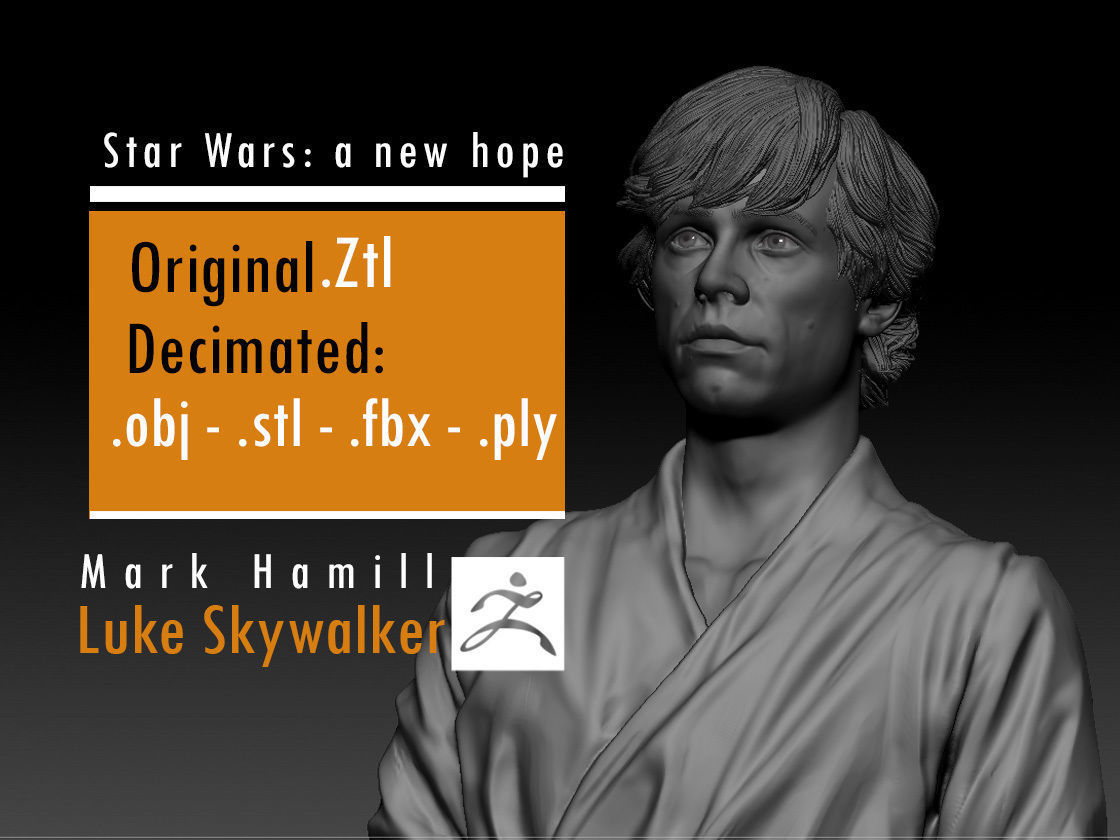 Mark Hamill - Luke Skywalker - Star Wars A new hope