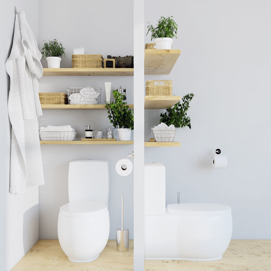 3D WC decoration   CGTrader