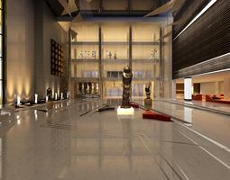 Museum hall 3D model
