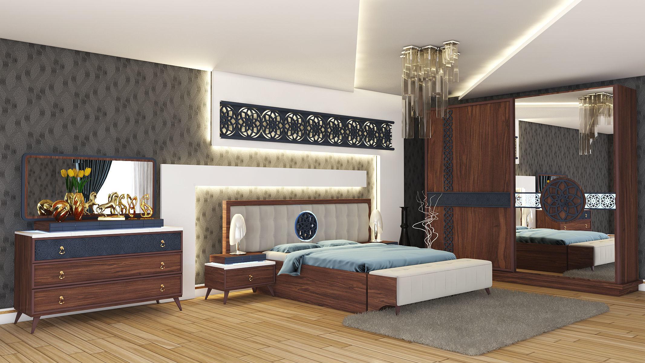 Antakya Bedroom Interior Design 3D model   CGTrader on Model Bedroom Interior Design  id=13976