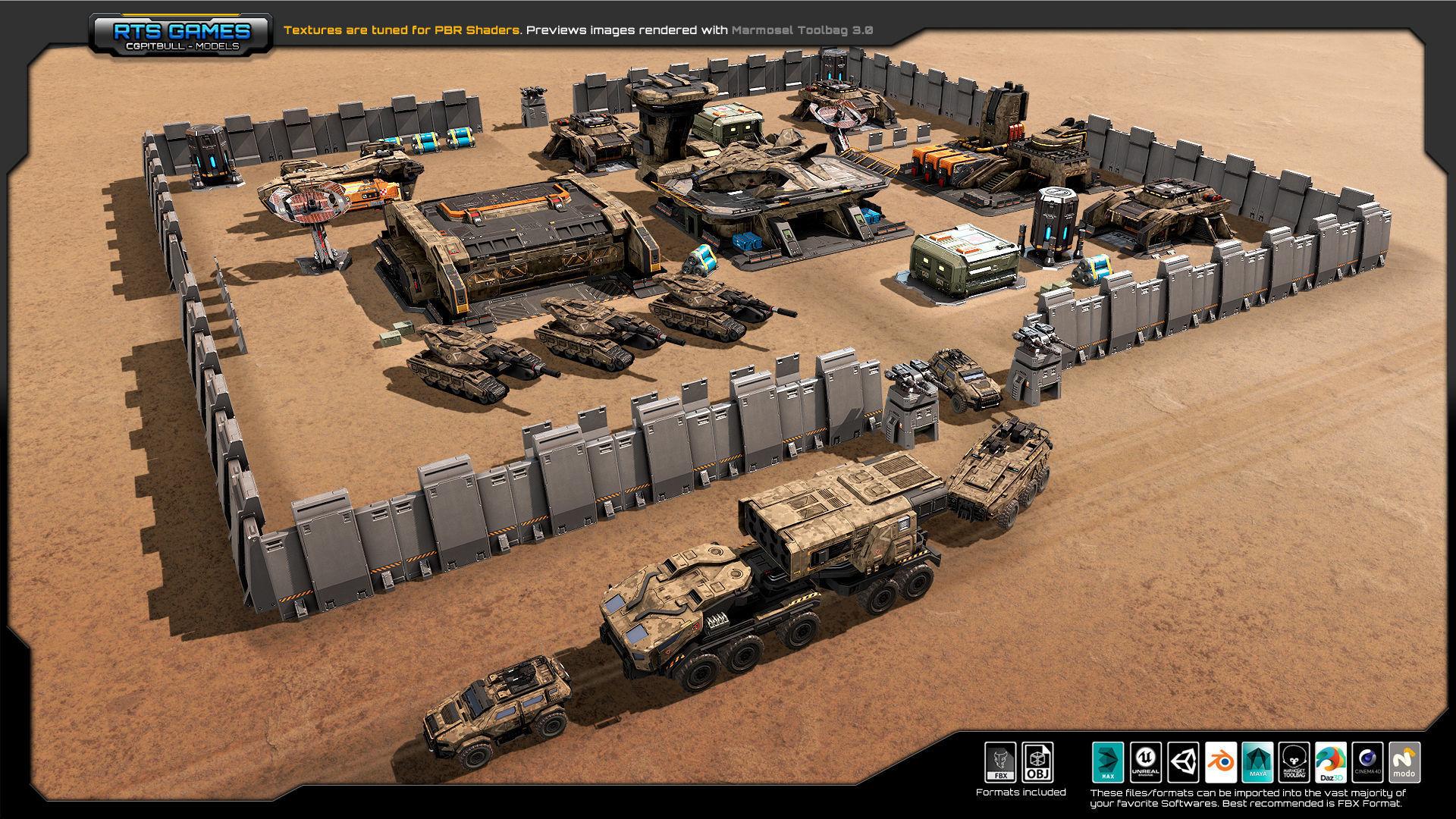 RTS Games MEGAPACK vr 3D model | CGTrader