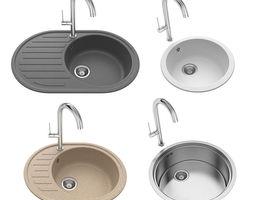 3D model Round sinks