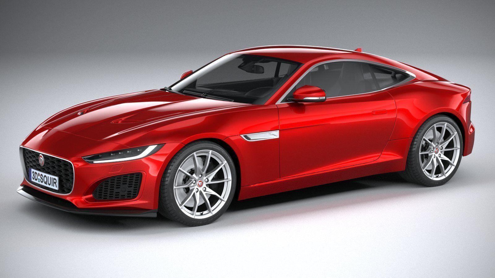 3d jaguar ftype regular coupe 2021  cgtrader