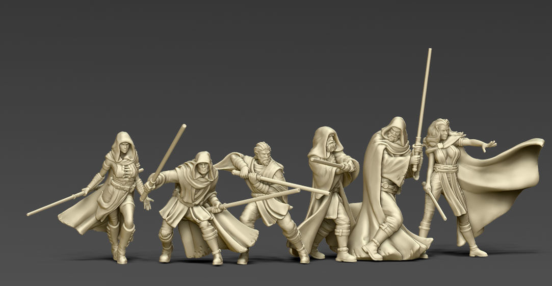 Light side bundle II - masters and apprentices 35 mm scale