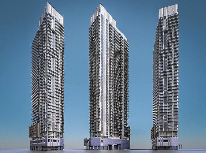 apartment building 02 3d model max obj mtl fbx dae 1